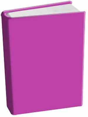 10 NEW Fuchsia Book Cover Stretchable Fabric Sox School College Student WHOLESAL
