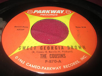 """The Cousins """"Outside The Wall/ Sweet Georgia Brown"""" 45"""