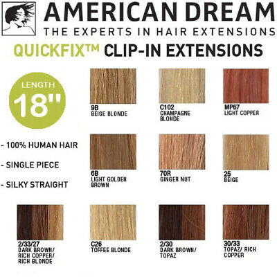 American Dream Original 100% Natural Human Hair 10 shades