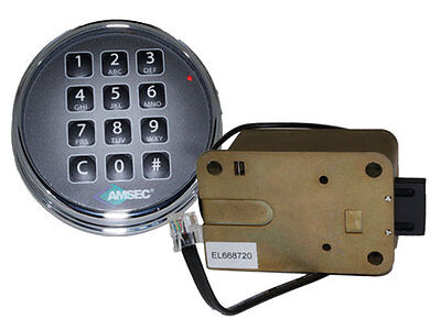 Amsec Esl10Xl Chrome Digital Safe Lock Replace S&g 6120 & Lagard Basic Ii
