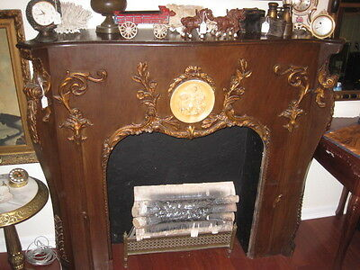Antique Victorian Fireplace Mantel