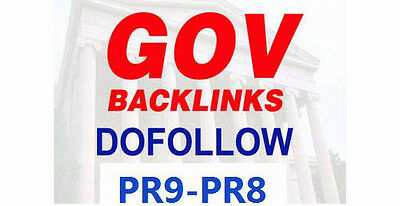 10xPR9 and 10xPR8 Permanent DoFollow .GOV Backlinks. Best SEO!