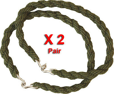 2 Pairs Trouser Twists Twist Bungee Elastic Leg Ties Army Cadet Military 2 X
