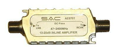 SAC 20dB IN-LINE SATELLITE AMPLIFIER/SIGNAL BOOST. LOW NOISE- 4DB MAX BUYME