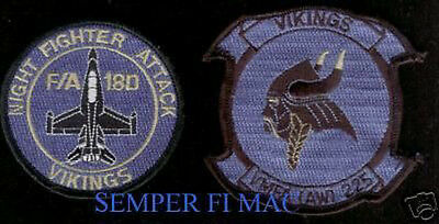 Authentic Vmfa Aw-225 Vikings Patch Us Marines Mcas Miramar Mag-11 3D Maw F-18