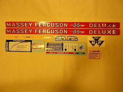 Massey Ferguson 35 Deluxe Decal Set