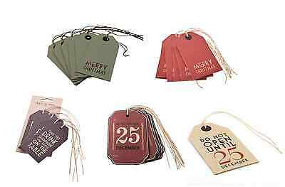 East Of India Christmas Tags Luggage Labels Pack Of 6 Sold For Hospice