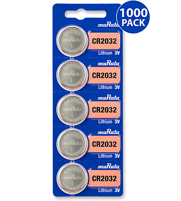 Sony CR2032 3V Lithium Coin Cell Battery (1000 Batteries) - Tracking Included!