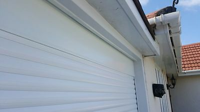 Made to Measure Remote Control Roller Garage Door in WHITE with fixings included