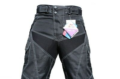 Men,s Motorbike/MOTORCYCLE CORDURA TROUSER W/PROOF/ARMOUR Sizes from 30 to 40
