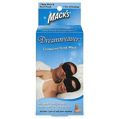 MACKS Dreamweaver Contoured Sleep Mask with Ear Plugs