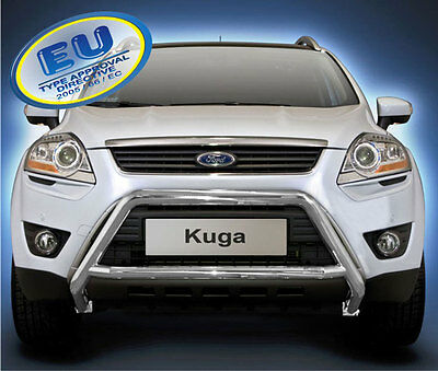PARE BUFFLE FORD KUGA 1 2008 - 2012 HOMOLOGUE INOX Ø 60mm