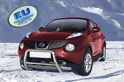 PARE BUFFLE NISSAN JUKE  HOMOLOGUE INOX Ø 60mm - A-TYPE
