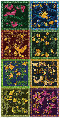 """ABC Designs Garden On Patches  Machine Embroidery Designs SET 5""""x7"""" hoop"""