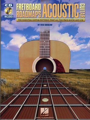 Fred Sokolow Fretboard Roadmaps Acoustic Guitar Learn to Play Music Book & CD