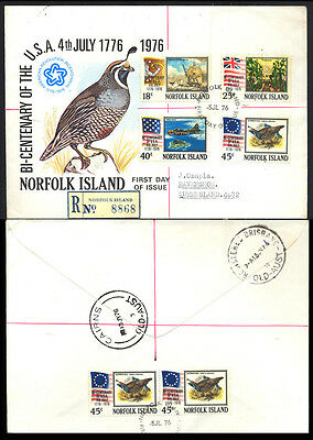 1976 Norfolk Island USA BICENTENIAL REGISTERED Cover 181