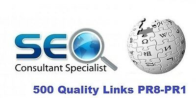 500 PERMANENT,High Quality DoFollow Backlinks from PR8-PR1  sites. Boost SEO !