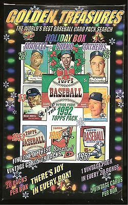1952 Topps Mickey Mantle Chase Card Box 20 packs 5 1950s or 1960's cards per box