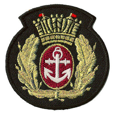 Ecusson thermocollant brodé patche Marine Navy embleme patch écusson