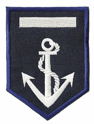 Ecusson brodé patche insigne badge capitaine Marine Navy marin patch écusson