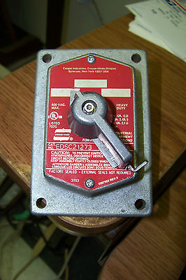 cooper edsc21273 3 position selector switch 600 vac