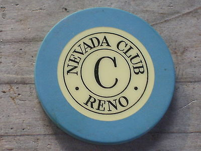 3RD EDT ROULETTE CHIP FROM THE NEVADA CLUB CASINO RENO