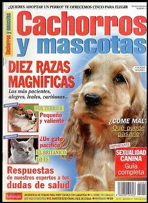 CACHORROS Y MASCOTAS Nº 42 - SPAIN MAGAZINE - Cocker Spaniel, Fox Terrier