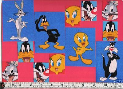 Tweety Bugs Bunny Sylvester Daffy Duck Fabric Iron Ons