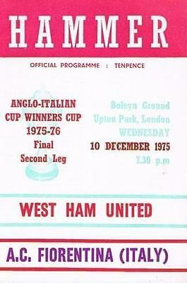 * 1975 ANGLO-ITALIAN CUP FINAL - WEST HAM v FIORENTINA *