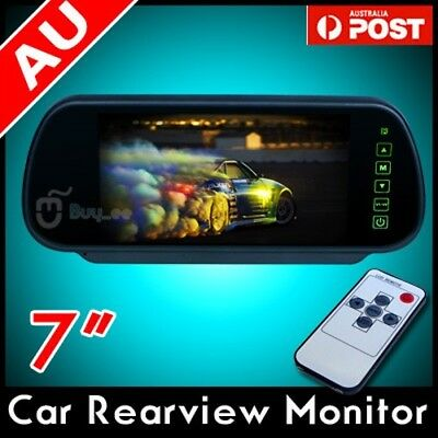 "7"" Lcd Tft Color Mirror Monitor For Car Rearview Reverse Camera Bus"
