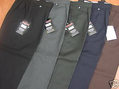 """Plus Fit School Trousers - All Ages Upto 44"""" Waist"""