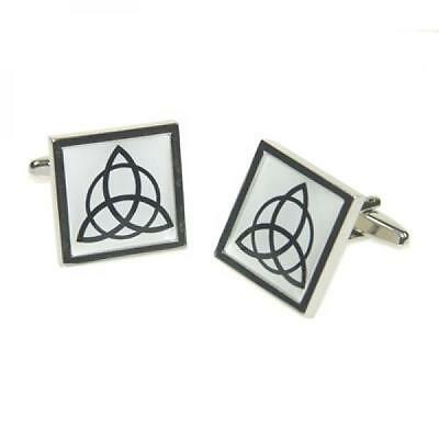 Triquetra Cufflinks Celtic Trinity Father Son Holy Spirit Ghost Present Gift Box