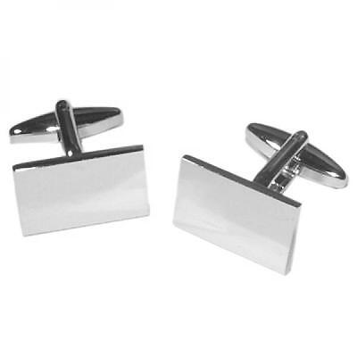 2 Tone Interlocked CUFFLINKS Birthday Present Suit Formal Wedding Cruise Party Uhren & Schmuck Herrenschmuck