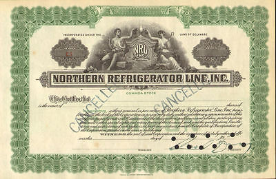 Northern Refrigerator Line > NRL stock certificate 19__ canceled share