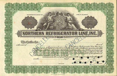 Northern Refrigerator Line   NRL stock certificate 19__ canceled share
