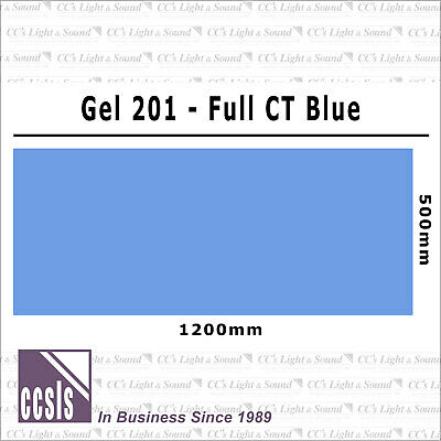 Clear Color 201 Filter Sheet - Full CT Blue