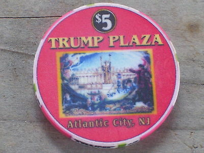 $5 Ltd Columbian Exposition Chip From The Trump Plaza Casino Atlantic City