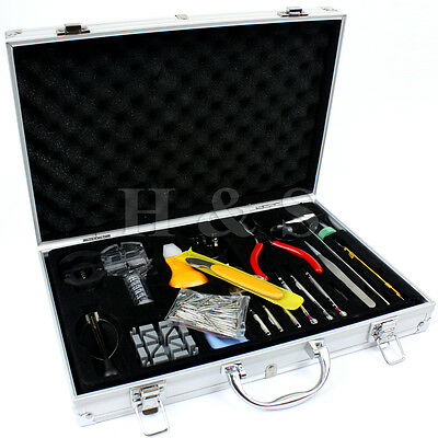 155 Pcs Watchmaker Watch Repair Tool Kit Back Case Opener Remover Spring Pin --A