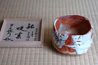 Japanese Shino Ware Tea Ceremony Chawan (Sho un)  by Hayashi Shotaro