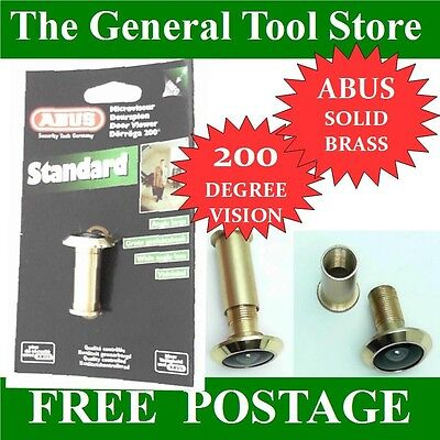 Solid Brass Abus Door Viewer Top Quality 200 Degree Vision Doors Upto 55 Mm Pf19