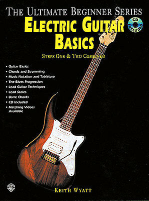 Ultimate Beginner Electric Guitar Basics Learn to Play Lesson Music Book & CD
