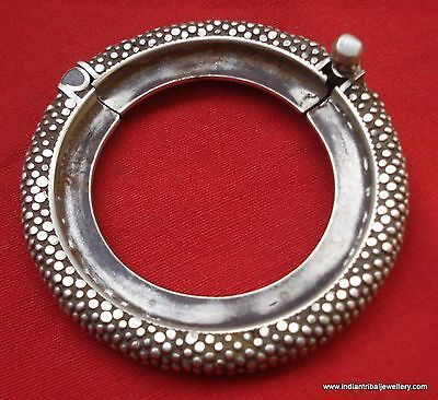Vintage antique tribal old silver bracelet bangle cuff gypsy hippie india