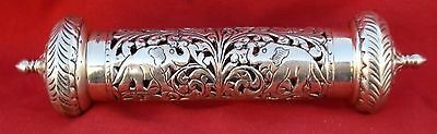 Ethnic Design Silver Scroll And Parchment Holder India