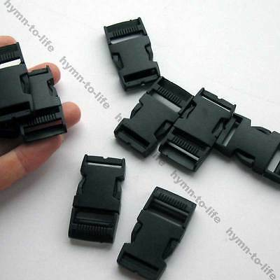 "10/50 pcs Black plastic Strong side release Buckle For 3/4"" webbing M017-20"