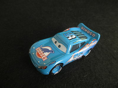 Disney Pixar Cars Blue Dinoco Lightning Mcqueen 1/55 Diecast (No Box)