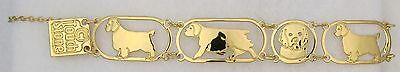 Clumber Spaniel Jewelry Gold Bracelet by Touchstone Designs