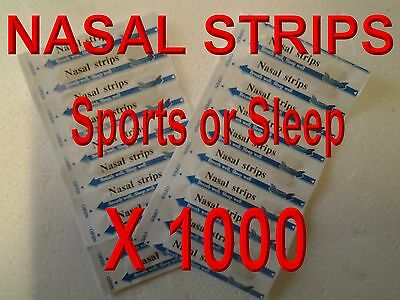 1000 Nasal Strips Anti Snore, Breath Easy For Sports , Colds 100% Drug Free