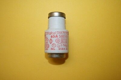 SIEMENS DIAZED BOTTLE FUSE 5sb4  63A 500V    fd7e7