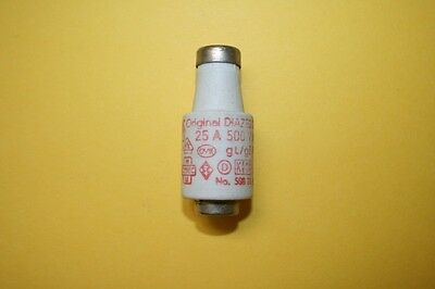 SIEMENS DIAZED BOTTLE FUSE 5sb 28  25A 500V    fd7e6
