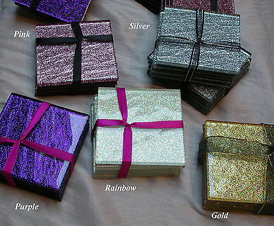 Glass Coasters (set of 4) 100mm x 100mm Glitter 6mm thick